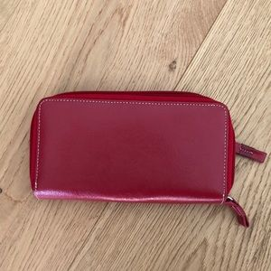 Genuine red leather wallet-brand new with tags